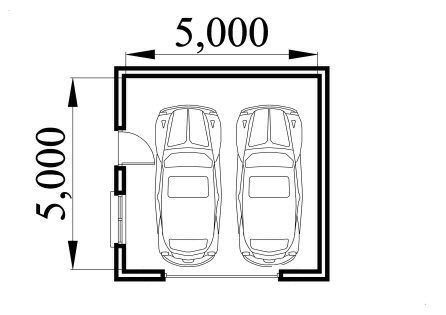 Concrete block garage plan over 5000 house plans for Cinder block garage plans