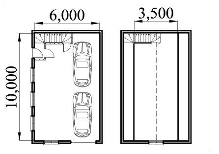Garage plan with storage loft 60100cl - Garage storage loft plans collection ...