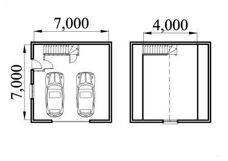 double car garage plan