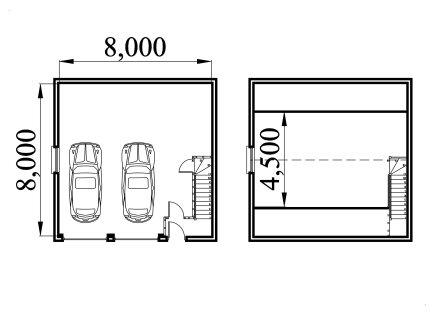 Garage plan with storage loft 8080db - Garage storage loft plans collection ...